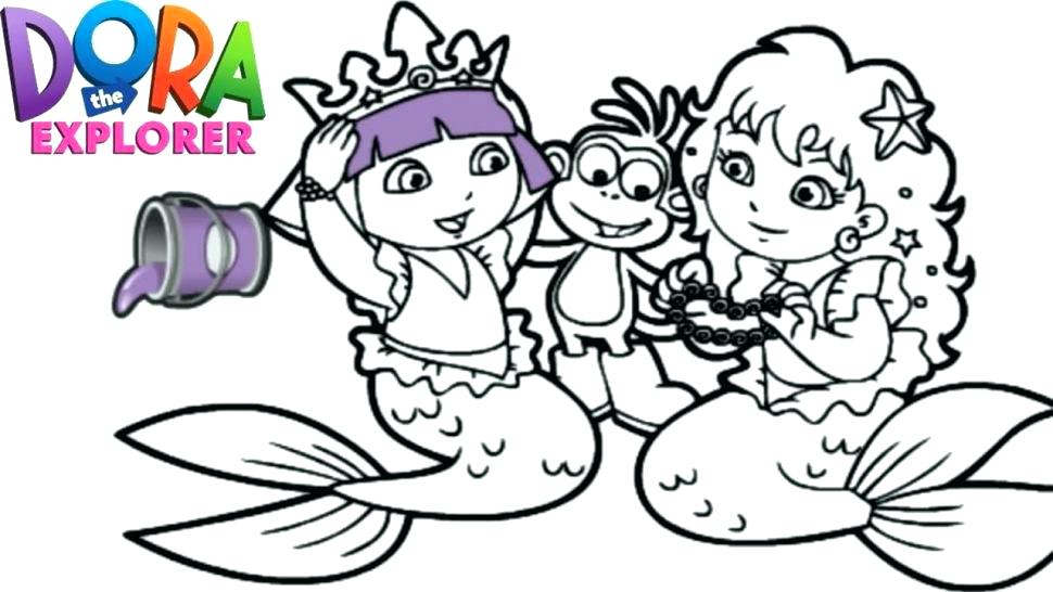 970x546 Dora Mermaid Coloring Pages