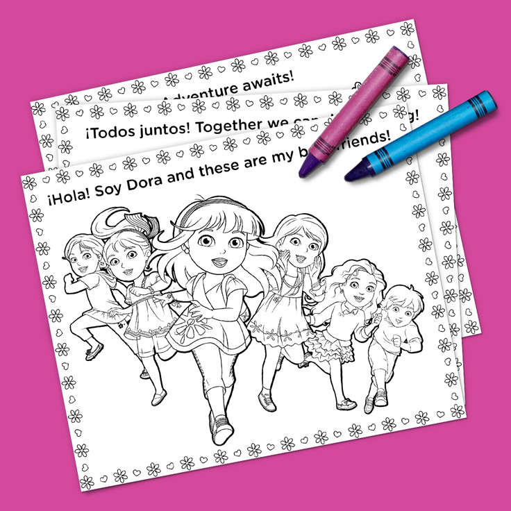 736x736 Dora And Friends Coloring Pack Nickelodeon Parents