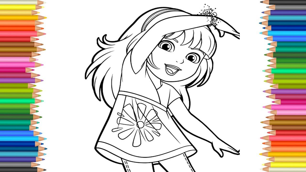 1280x720 Dora And Friends Coloring Page Book Markers Video For