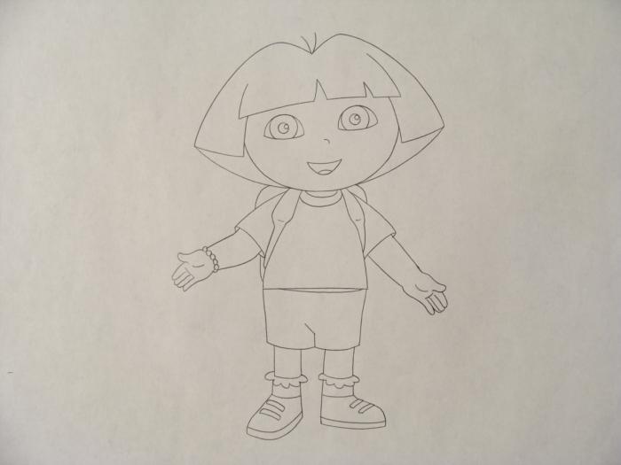700x525 2 Dora The Explorer Orig Animation Drawings Backpack