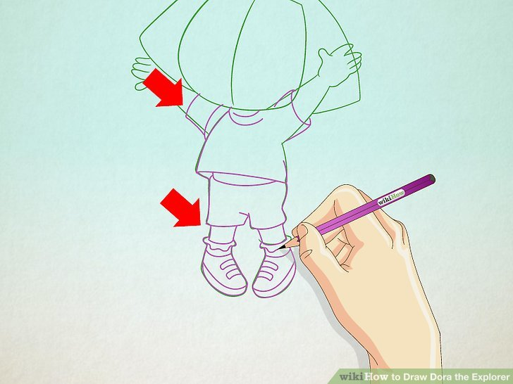 728x546 How To Draw Dora The Explorer 11 Steps (With Pictures)