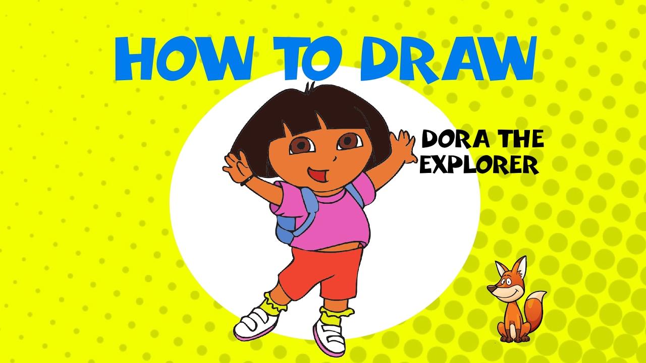 1280x720 How To Draw Dora The Explorer