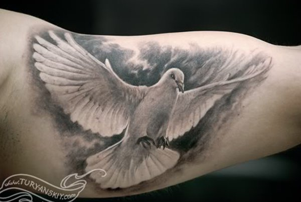 Dove drawing tattoo at getdrawings free for personal use dove 600x402 55 peaceful dove tattoos art and design voltagebd Images