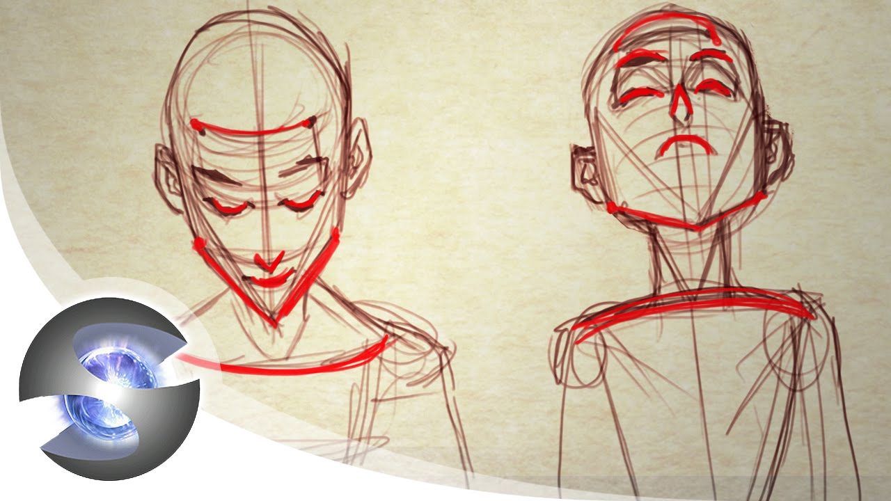 1280x720 How To Draw A Head Looking Up And Down