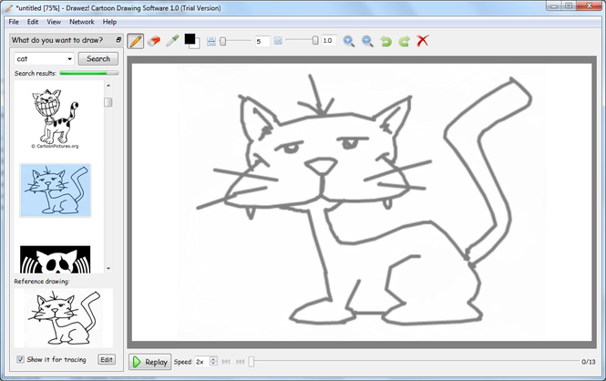 665x418 Download Drawez! Cartoon Drawing Software 1.0