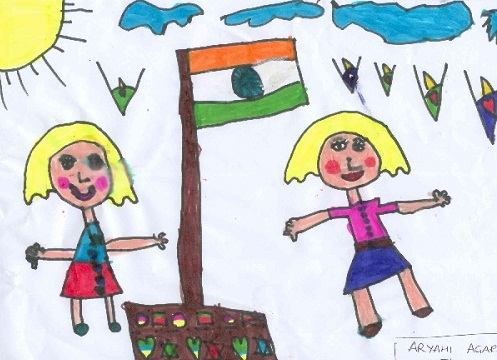497x360 Indian Republic Day Drawings Republic Day Sketches 26 January