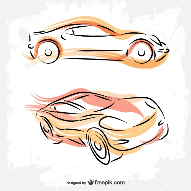 626x626 Cars Line Art Drawing Vector Free Download