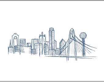 340x270 Skyline Drawing Etsy