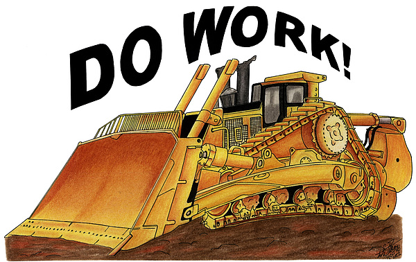600x378 Dozer Toon Drawing By Lyle Brown
