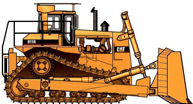 623x336 Norscot 55025 Cat D11r Tractor Dozer In 150 Scale O Gauge