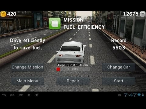 480x360 Dr Driving Android Game Fuel Efficiency Mission