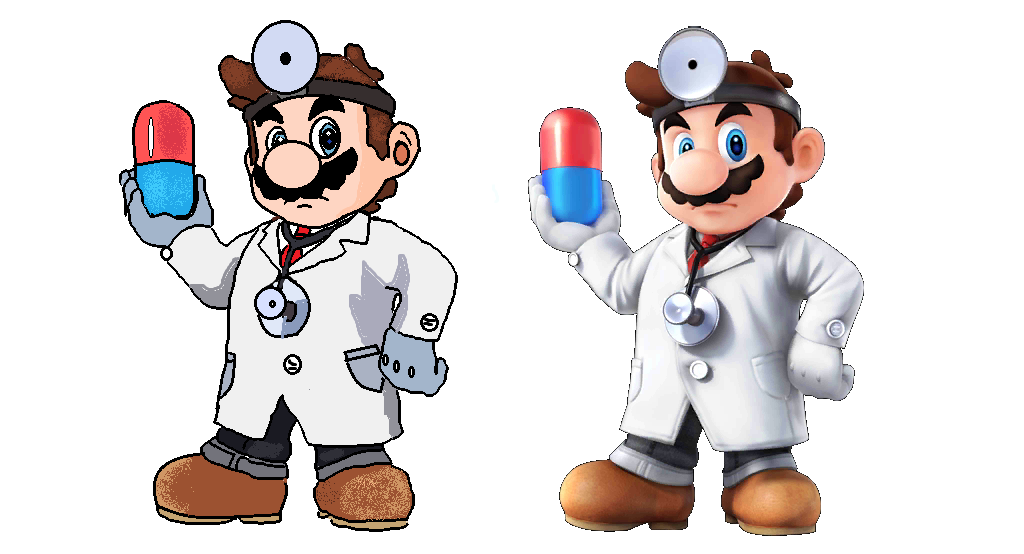 1024x554 Dr Mario Drawing By Billebobart