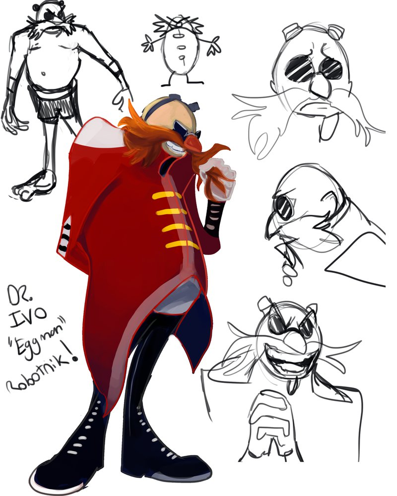 800x1000 Warm Up Sketches And Drawing Of Dr. Eggman By Naberruryah