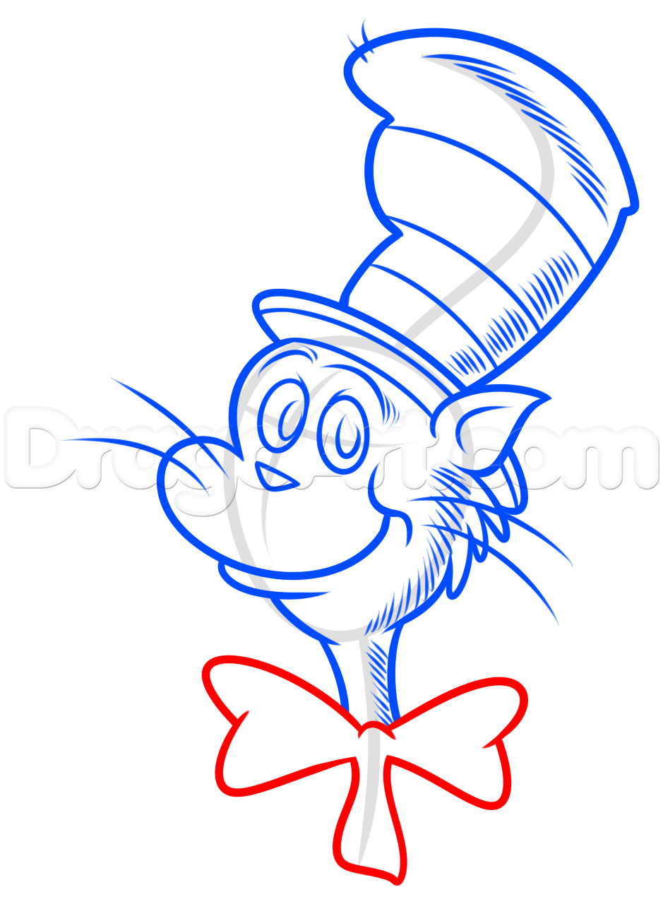 939x1304 Cat In The Hat Drawing How To Draw The Cat In The Hat, Dr Seuss