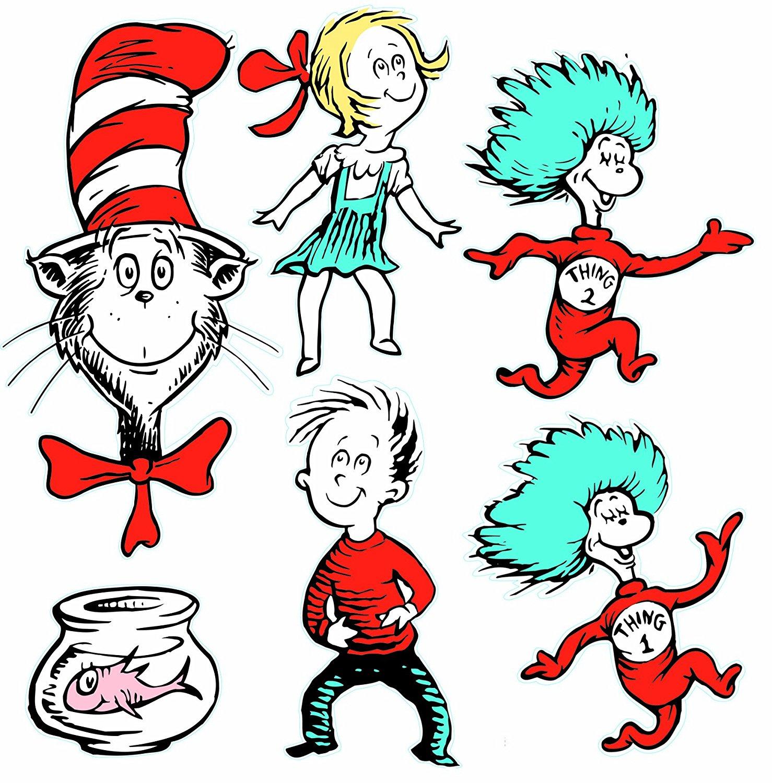 1478x1500 Eureka Large Dr. Seuss Characters Deco Kit (840226