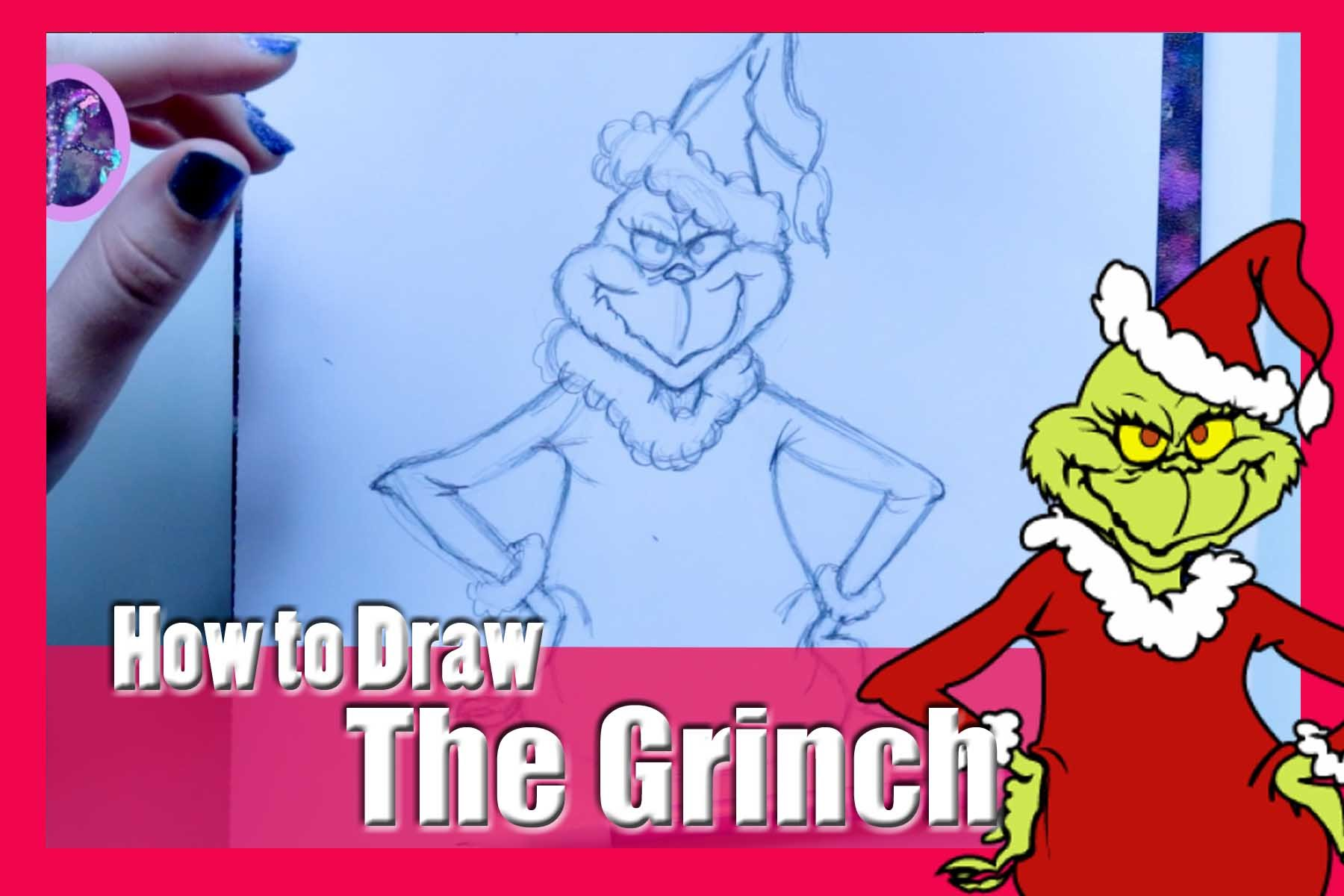 1800x1200 How To Draw The Grinch (From Dr. Suess' How The Grinch Stole