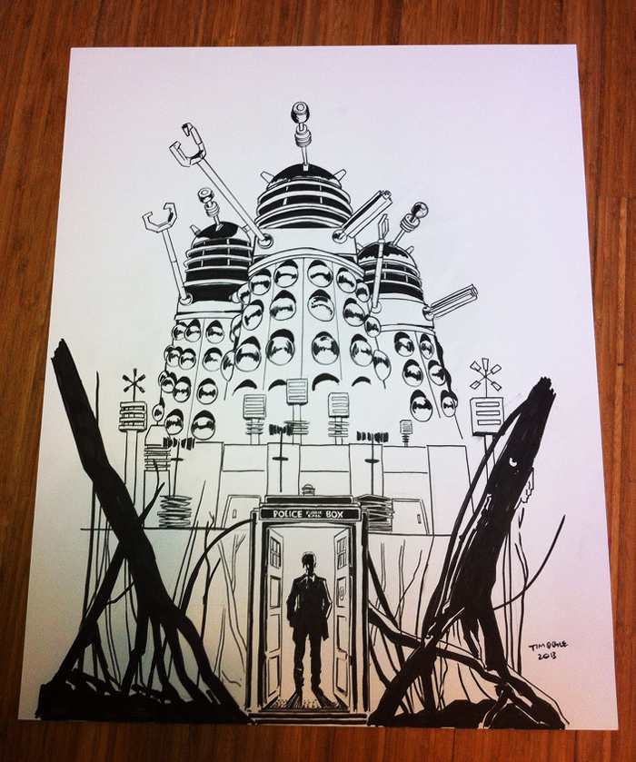 700x839 Doctor Who And The Daleks Print Now A Blu Ray Cover! Nakatomi, Inc