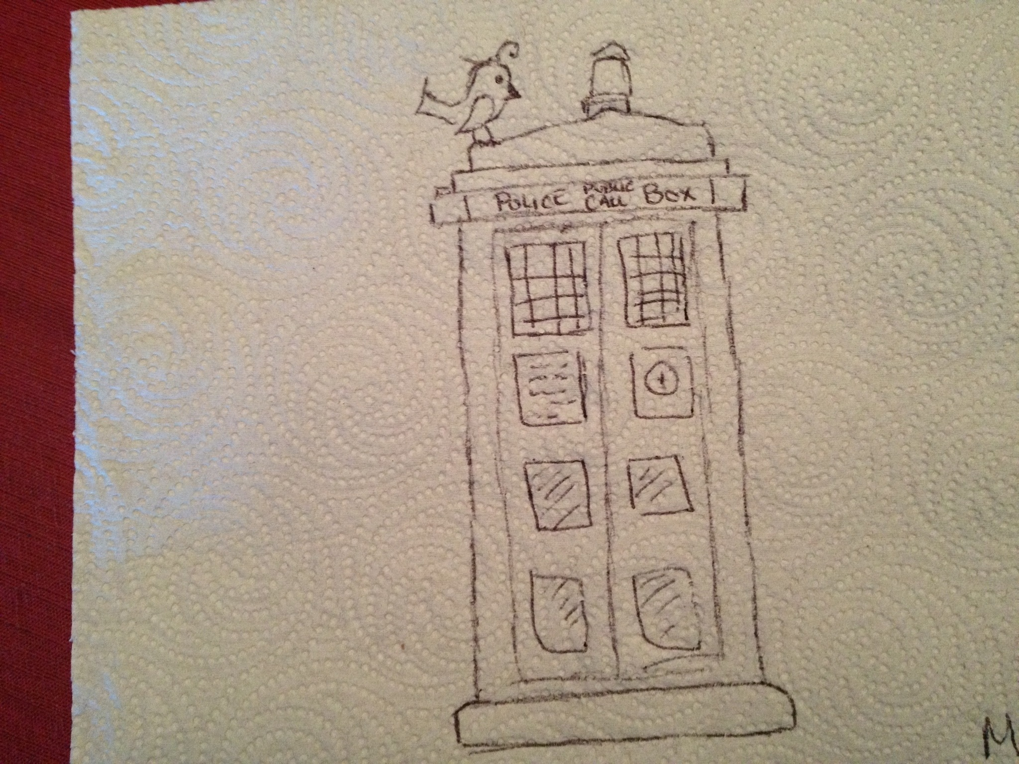 2048x1536 Dr. Who Drawing Paper Towel Lunch Art