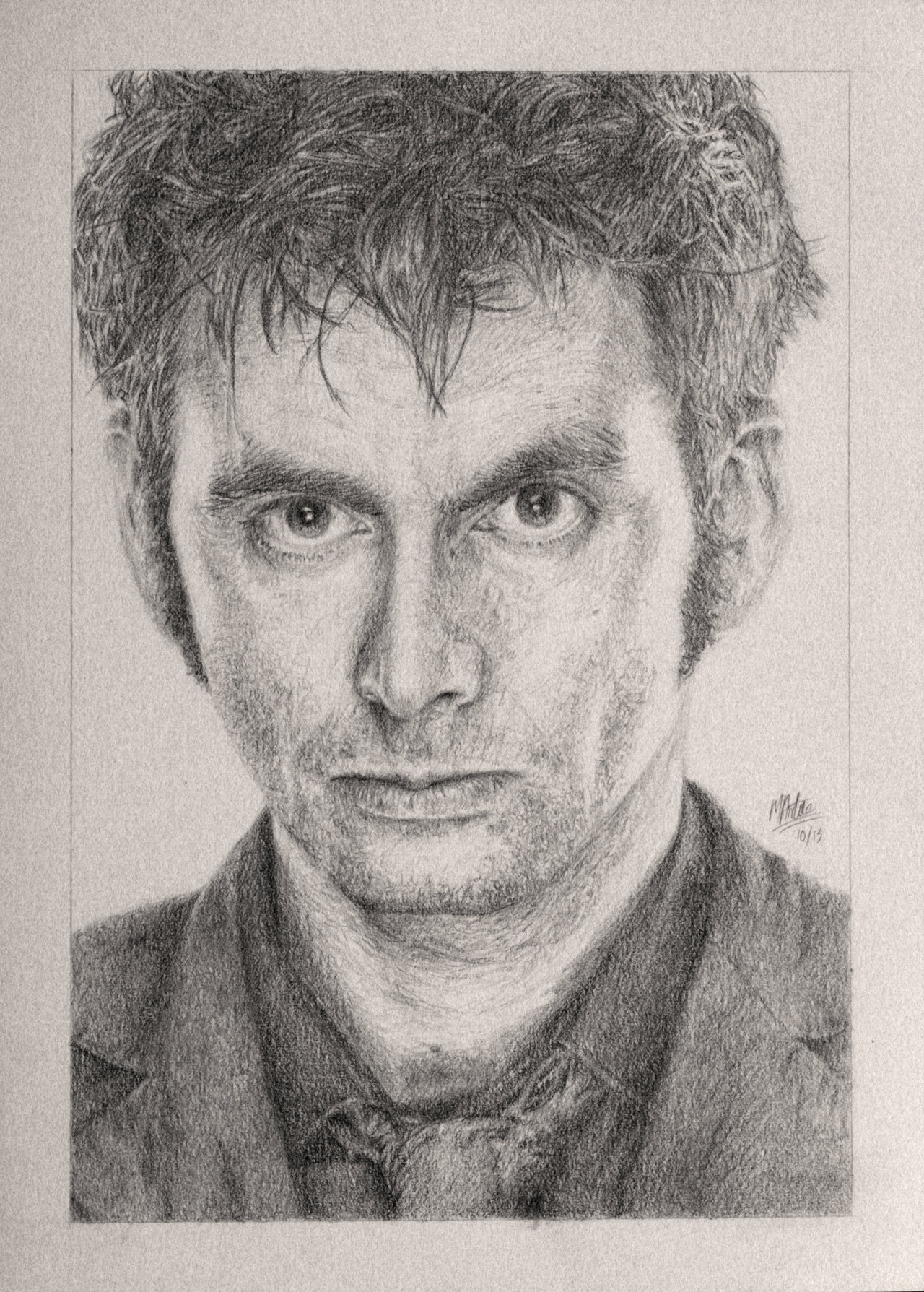 1280x1789 Drawing Doctor Who Project David Tennant By Atarial.