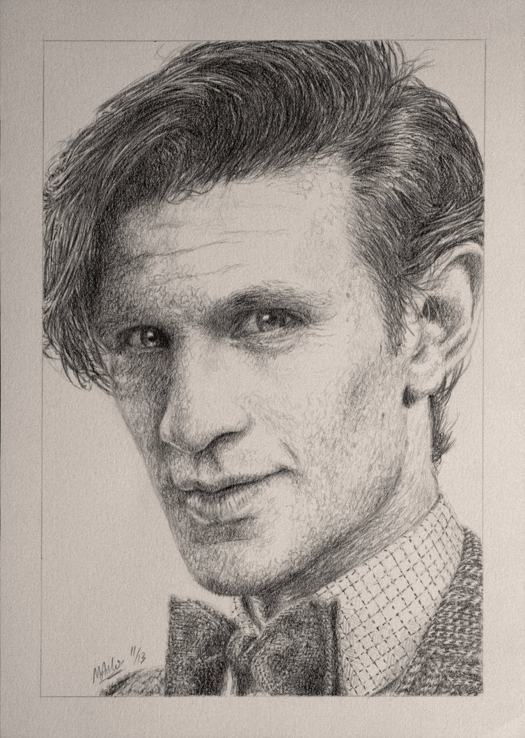 754x1060 Drawing Doctor Who Project Matt Smith By Atarial