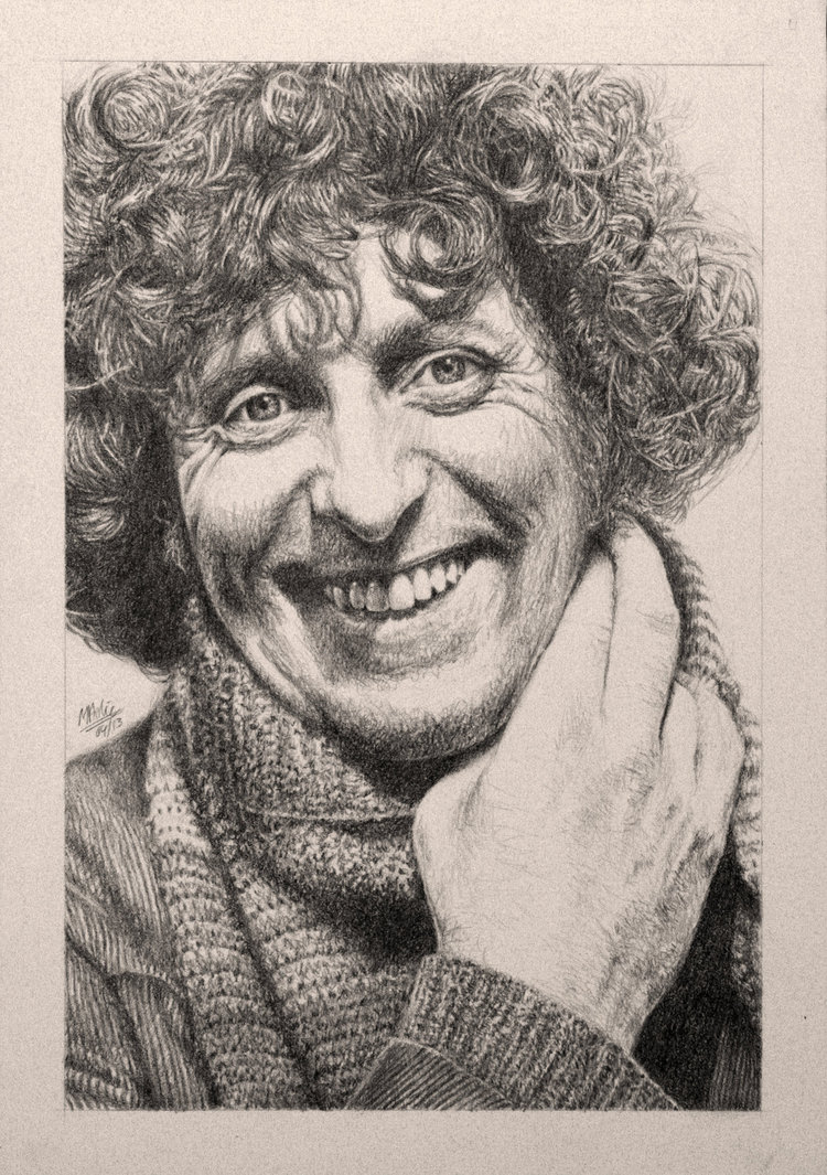 750x1065 Drawing Doctor Who Project Tom Baker By Atarial