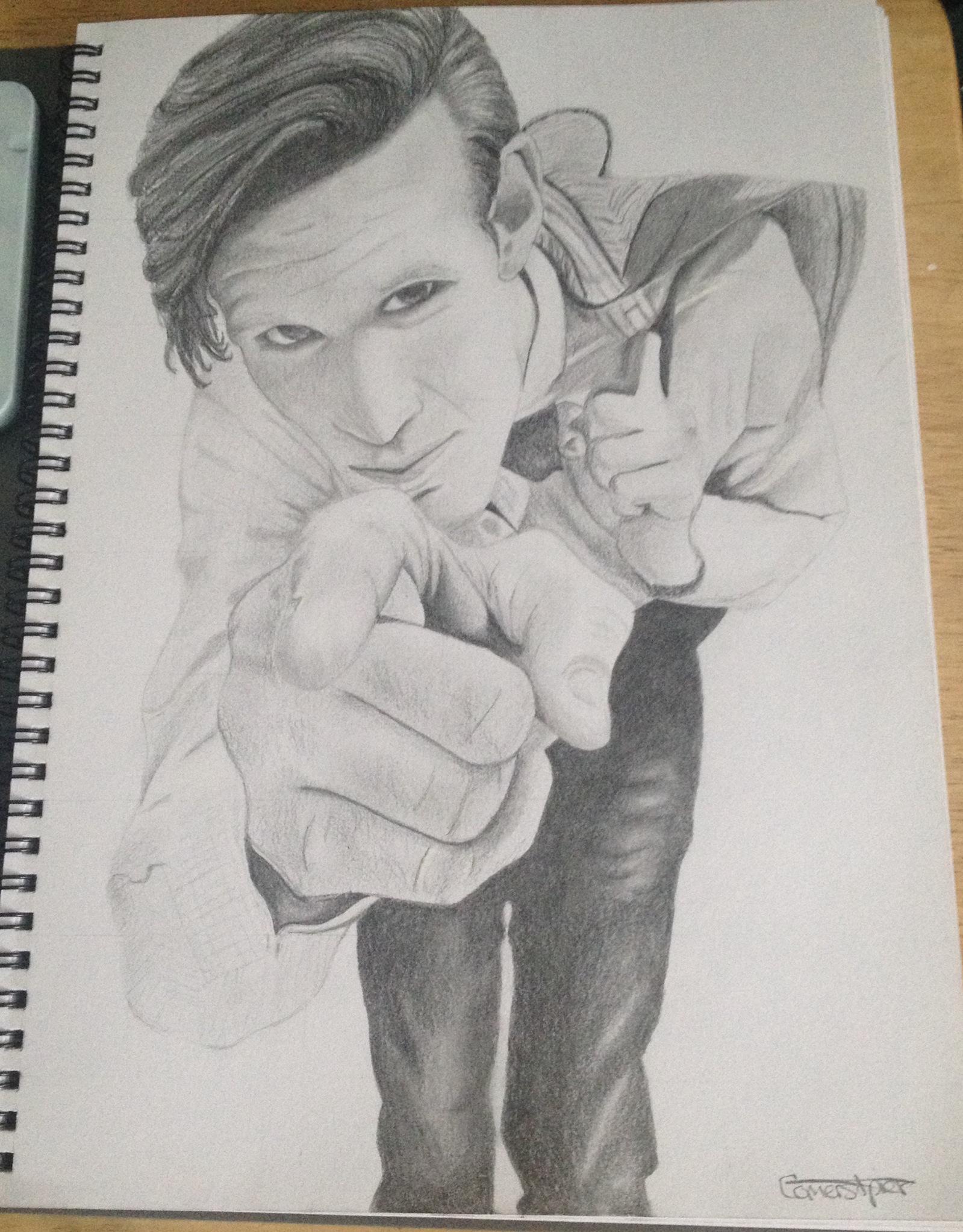 1599x2045 Matt Smith Doctor Who Drawing Geek Matt Smith