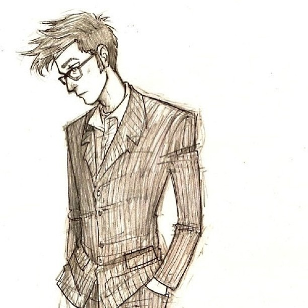 612x612 Tenth Doctor Image Drawing Drawing Skill