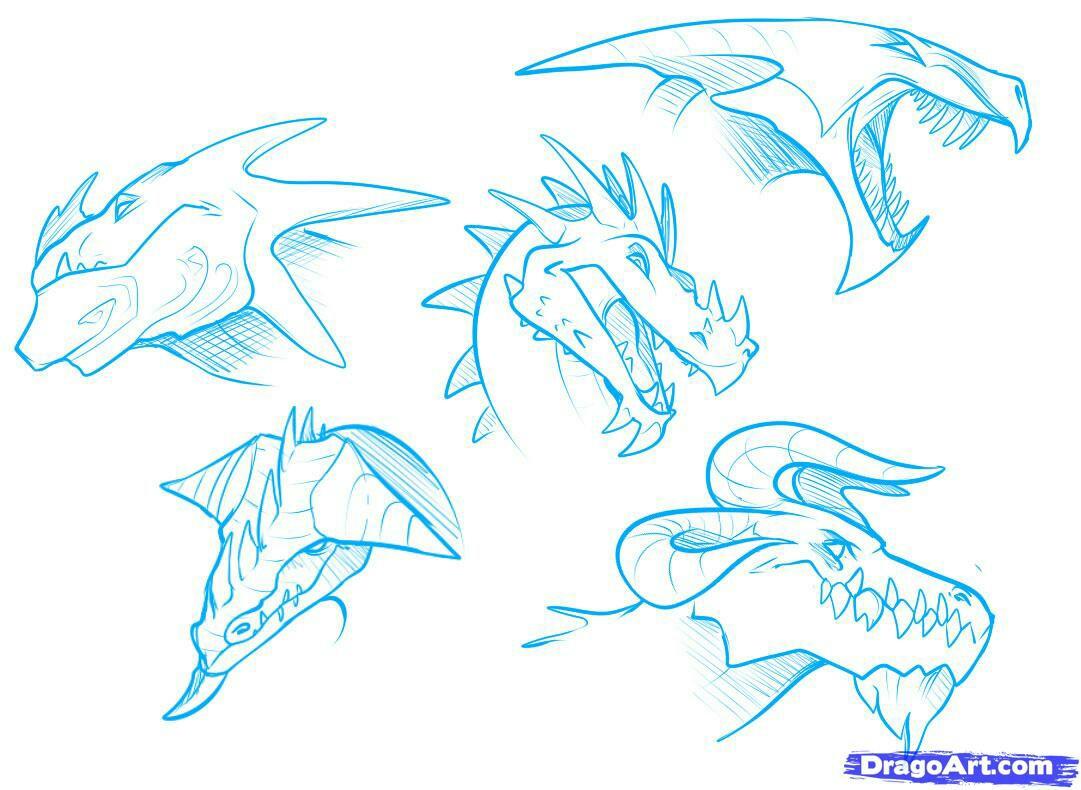 1081x790 Dragon Heads How To Draw Mangaanime How To Draw Mangaanime