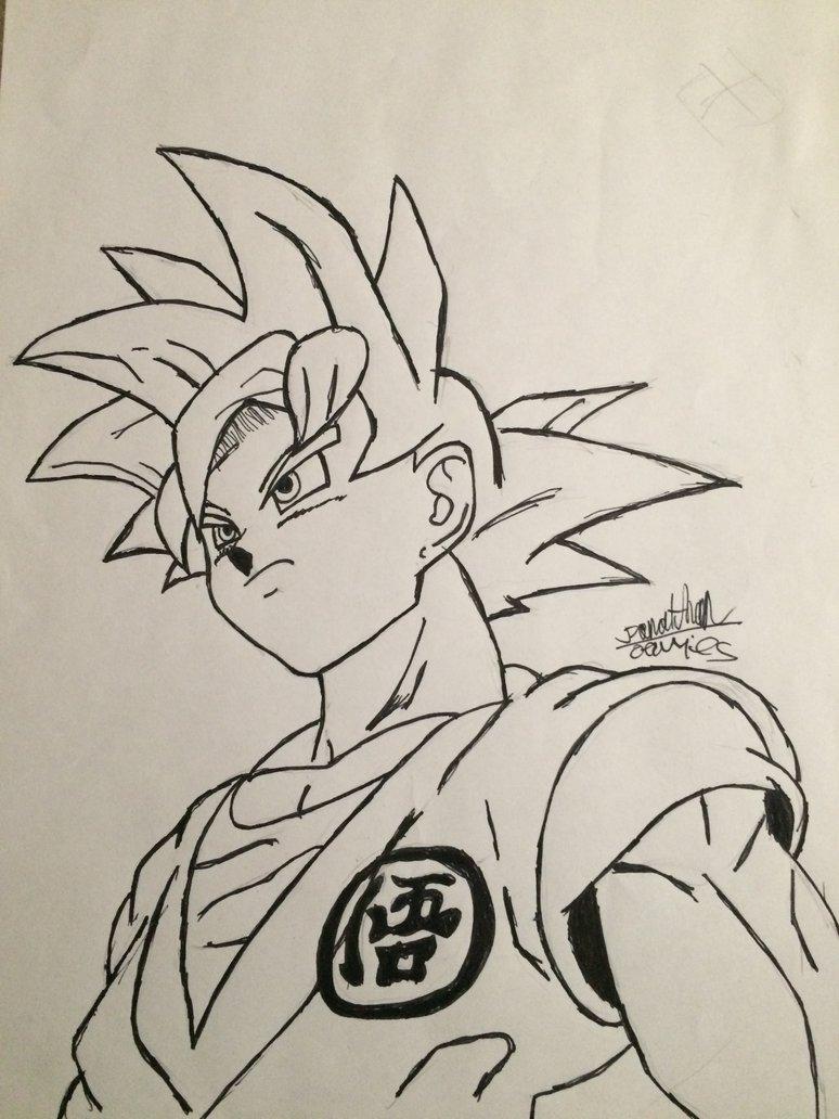 774x1032 Dragon Ball Super Goku(Ssg) By Drawing Chicken