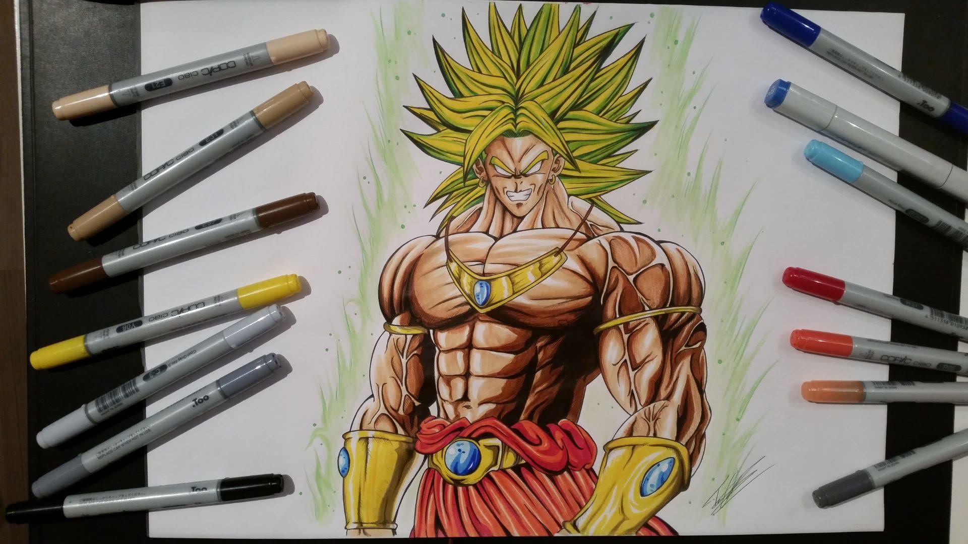 1920x1080 Drawing Broly The Legendary Super Saiyan [Dragon Ball Z]