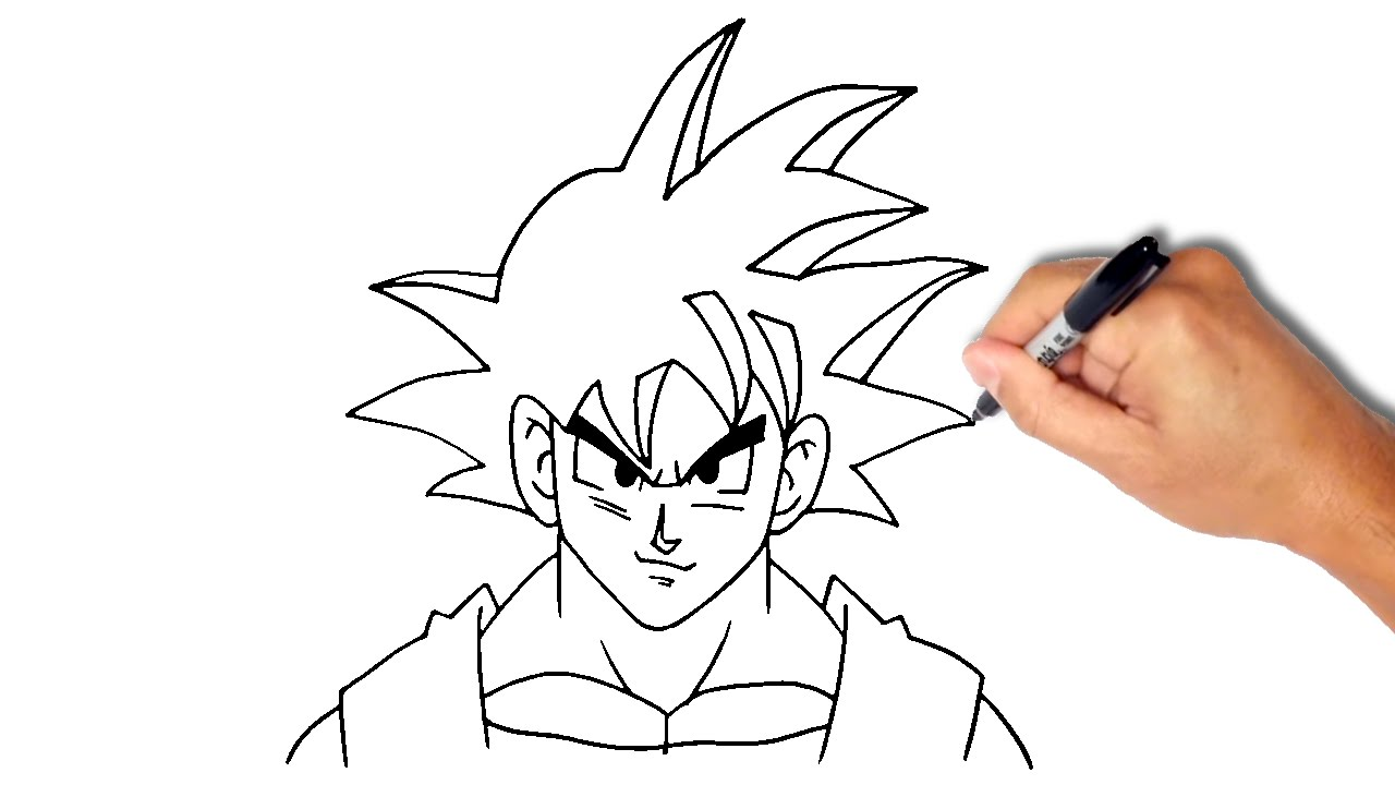 1280x720 How To Draw Goku From Dragon Ball [Easy]
