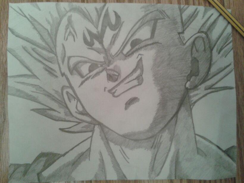 820x615 Old Drawing Majin Vegeta, From Dragon Ball Z By Orion Zuchino
