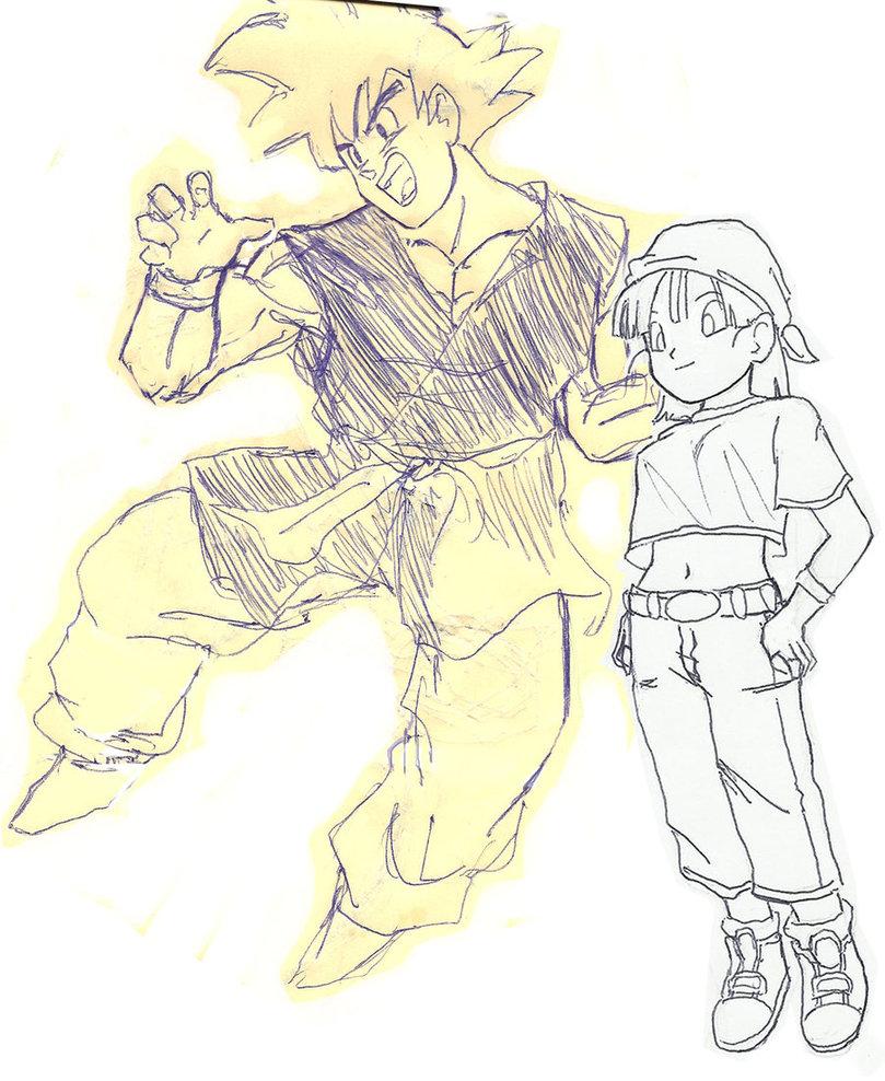 809x988 Dragon Ball Gt Goku And Pan By Uberfayt