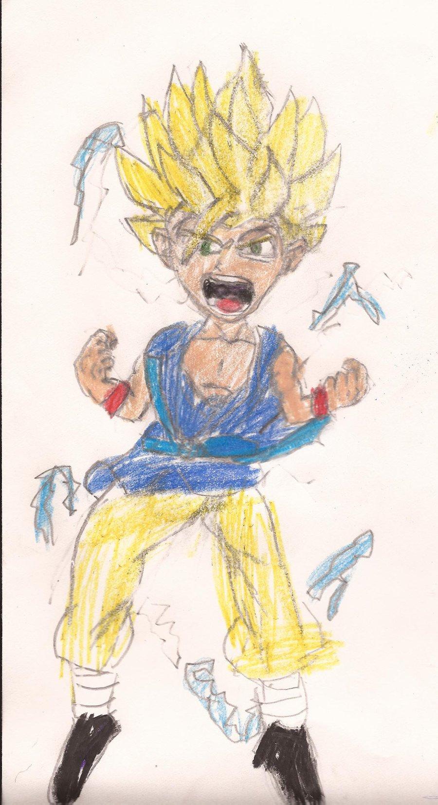 900x1653 Drawing Dragon Ball Gt Goku Super Saiyan 2 Dragon Ball Gt