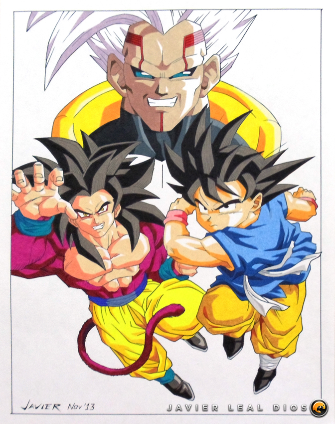 672x850 Drawing Goku And Baby From Dragon Ball Gt By Neokoi