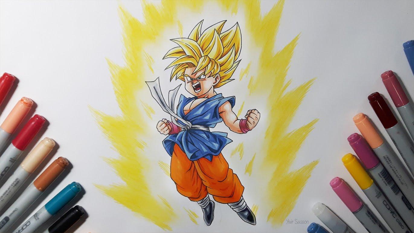 Schön Goku Super Saiyan 1 Malvorlagen Bilder - Druckbare Malvorlagen ...