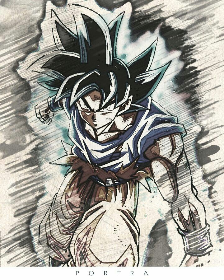 Dragon ball super drawing at free for personal use dragon ball super drawing - Goku ultra instinct sketch ...