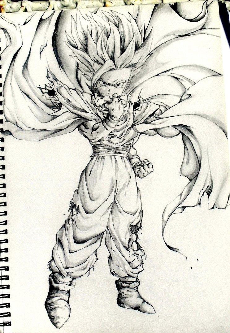 743x1076 Dragon Ball Z Cartoon Drawing Goku Drawings Pencil Pic 23