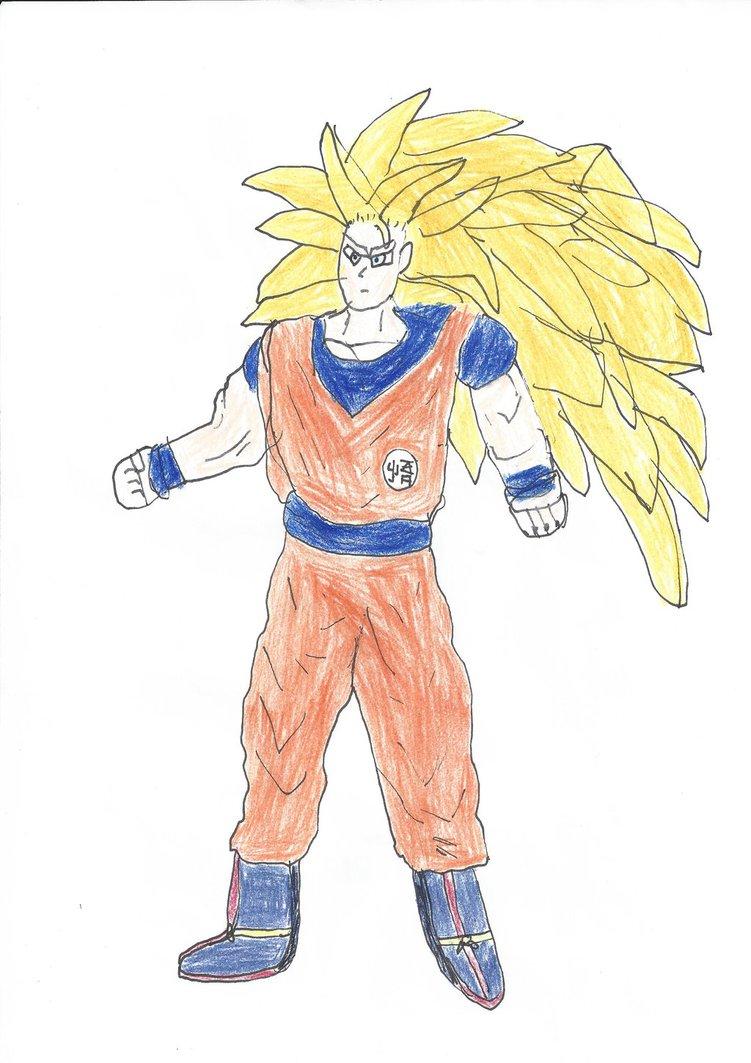 751x1063 Dragon Ball Z Super Saiyan 3 Goku Drawing By Dshaynie11