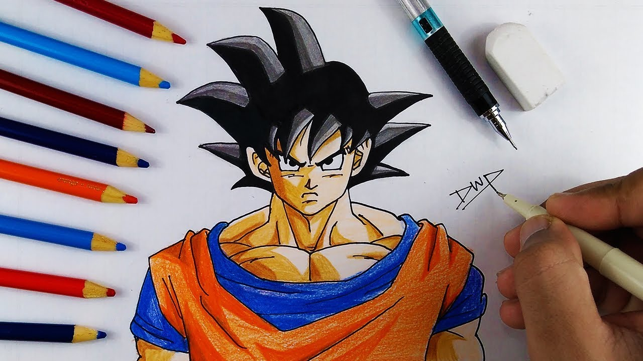 1280x720 How To Draw Goku From Dragon Ball Z [ Dbz Character Drawing