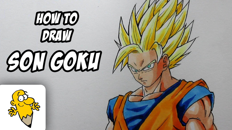 3000x1688 How To Draw Son Goku Ssj 2 [Dragonball Z]