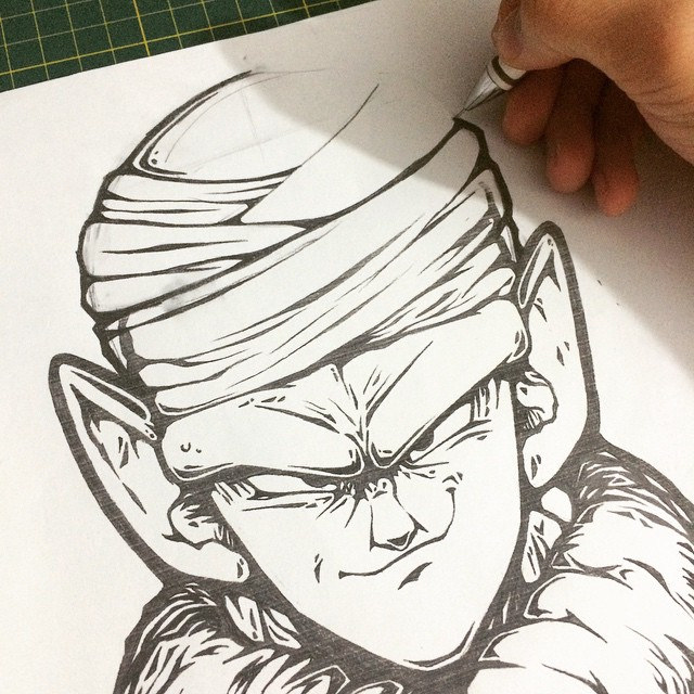 640x640 Piccolo) 2nd Sketch For My Dbz Posters