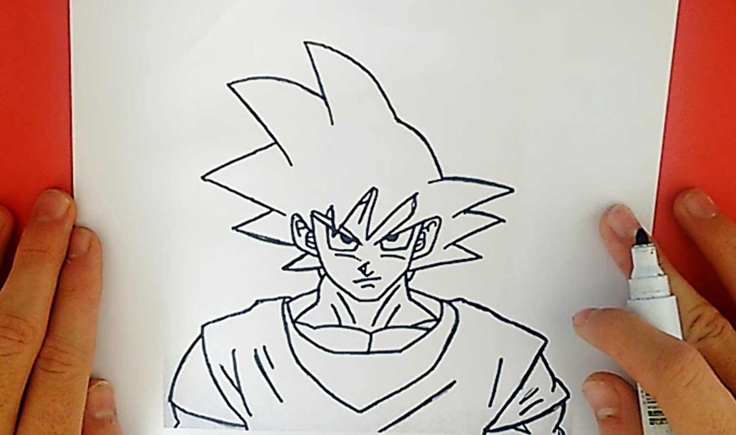 1500x886 How To Draw Goku From Dragon Ball Z (Character)