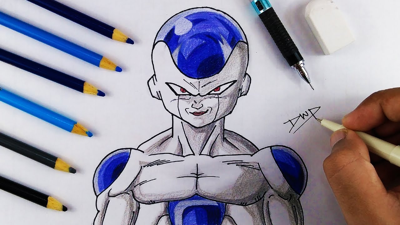 1280x720 How To Draw FRIEZA 1ST FORM From DRAGON BALL Z DBZ Character