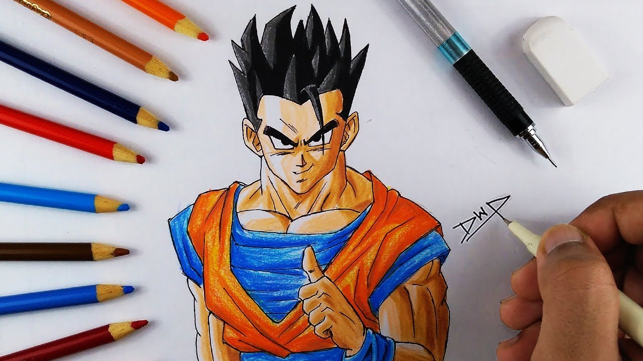 1280x720 How To Draw GOHAN From DRAGON BALL Z DBZ Character DRAWING