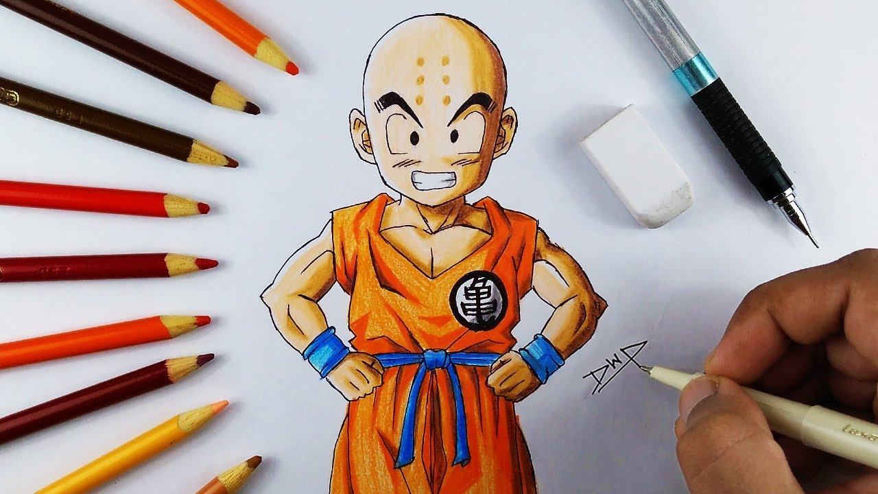 1280x720 How To Draw Krillin From Dragon Ball Z [ Dbz Character Drawing