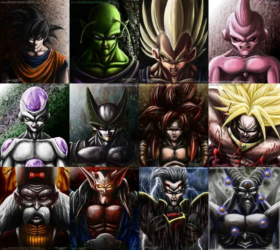 960x856 Really Detailed Drawings Of DBZ Characters Dragonball Z