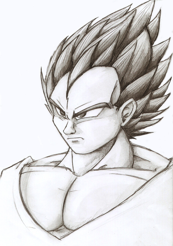 600x853 New Vegeta Pencil Drawing by PyroDragoness on DeviantArt