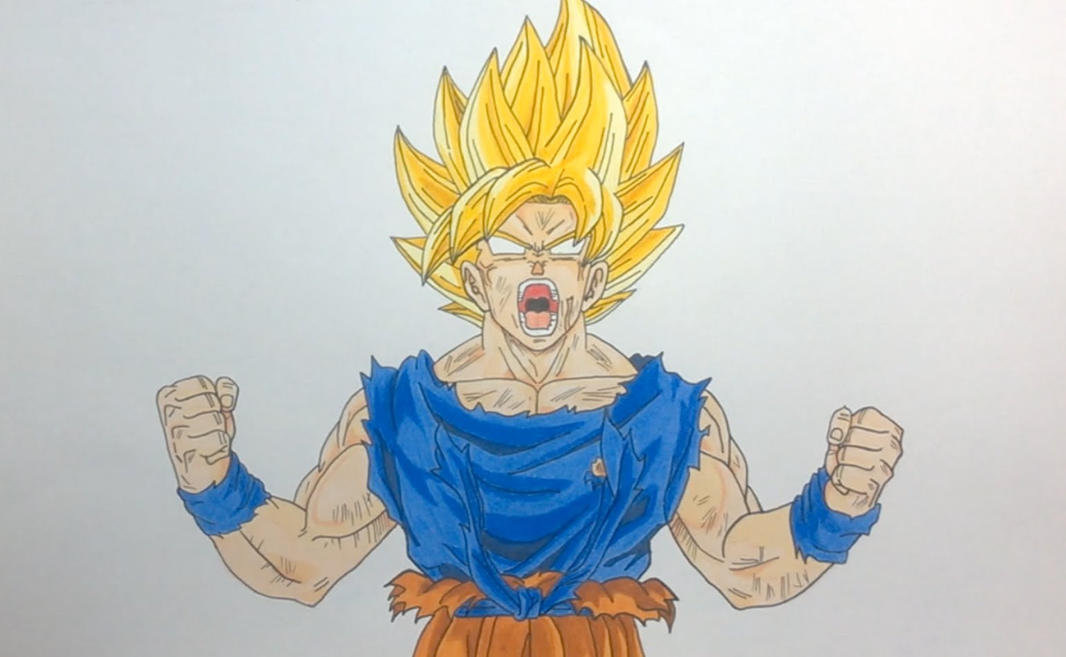 Dragon Ball Z Drawing Goku at GetDrawings.com | Free for personal ...