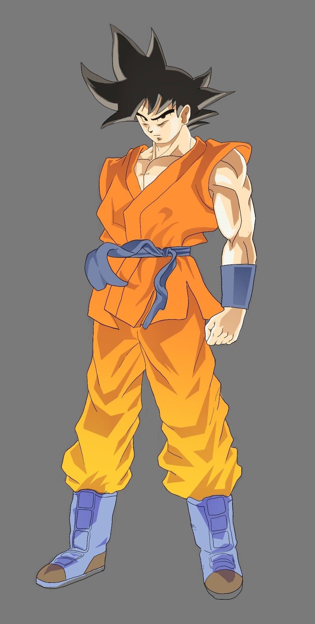 1050x2080 How To Draw Goku From Dragonball